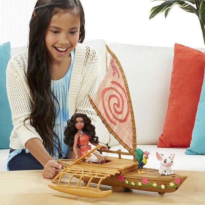 Disney Moana Starlight Canoe and Friends Toy Oceania Pua Hei Princess Gift Doll
