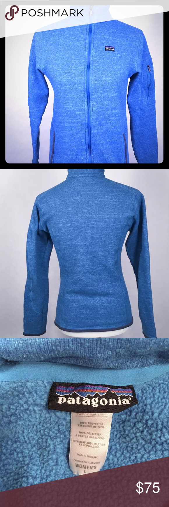 Royal blue full zip Patagonia better sweater *read This is ...