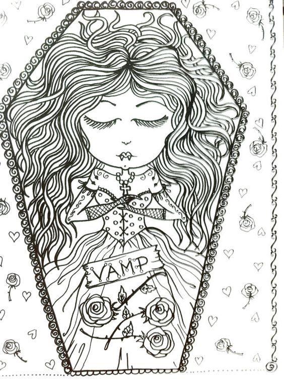 COLORING BOOK VAMPIRE Coloring