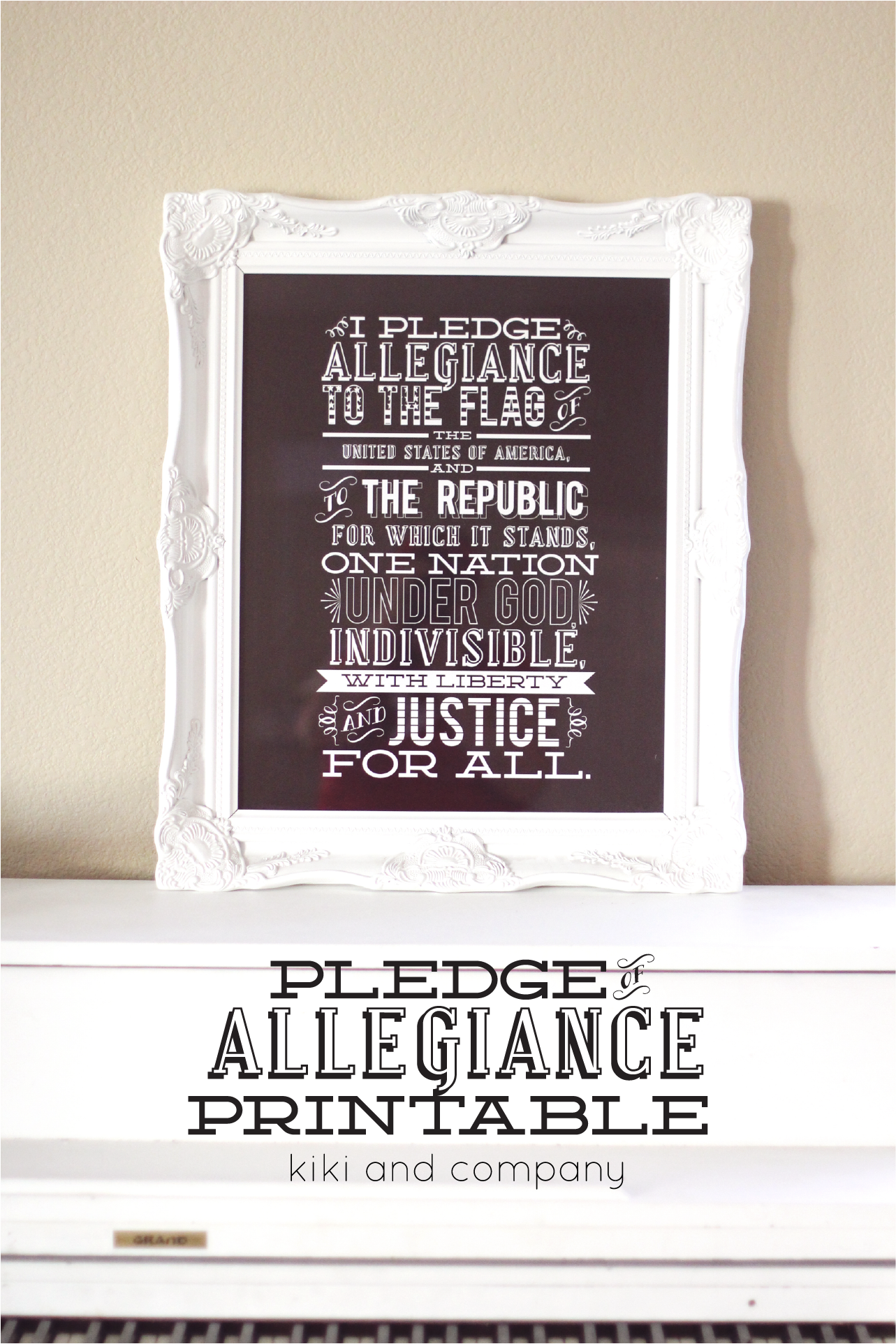 The Pledge Of Allegiance New Printable Giveaway