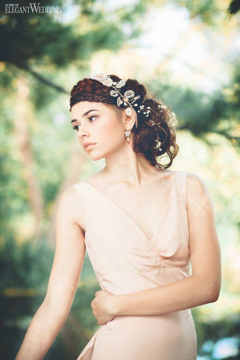 Ethereal bridal jewellery u accessories nail polish flowers