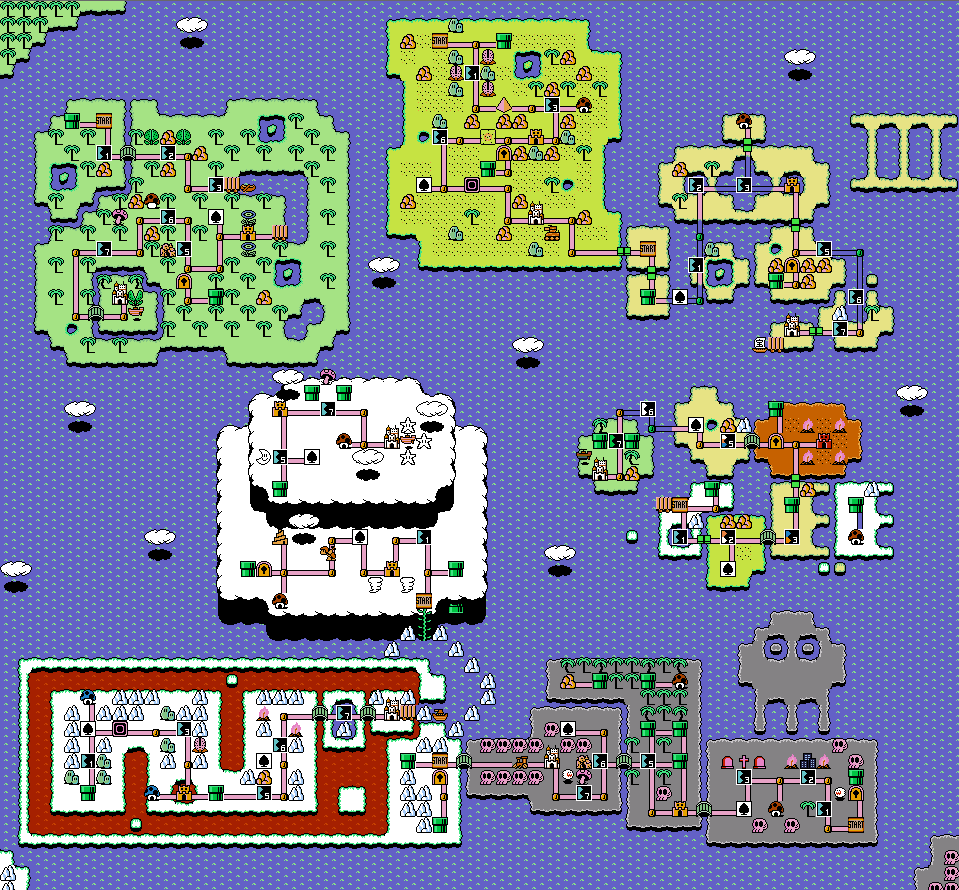 Mario 3 World Map.Super Discord Bros 3 World Map Video Games Super Mario Smash
