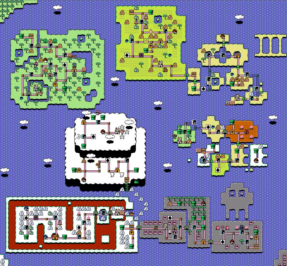 Super Discord Bros. 3 world map | Video Games | Super mario smash