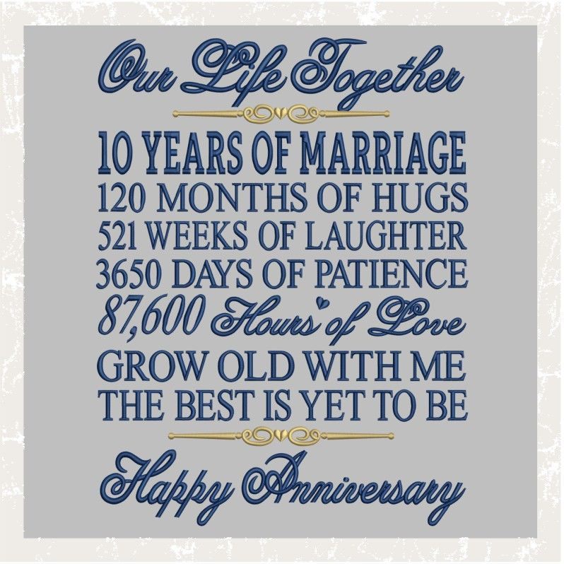 T1012 10th Anniversary 15th Wedding Anniversary Anniversary Quotes 10th Anniversary Quote