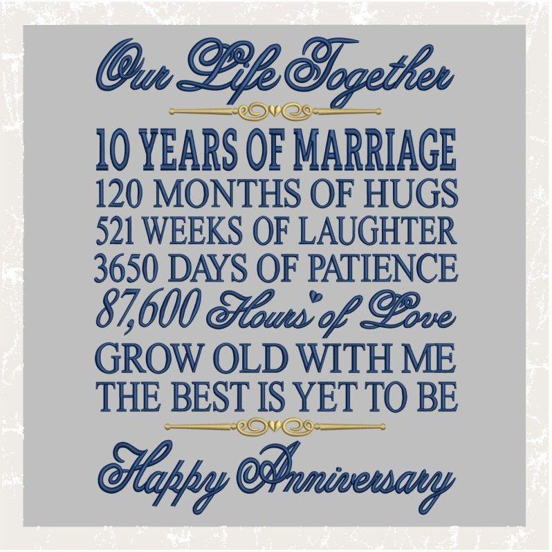 T1012 10th Anniversary 15th Wedding Anniversary Anniversary Quotes 10th Anniversary Quote