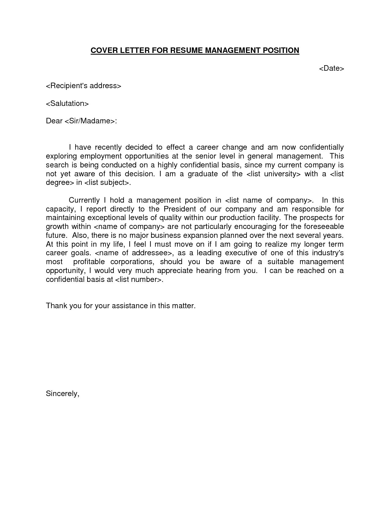 Cover Letter Risk Management Position Templates Manager Example