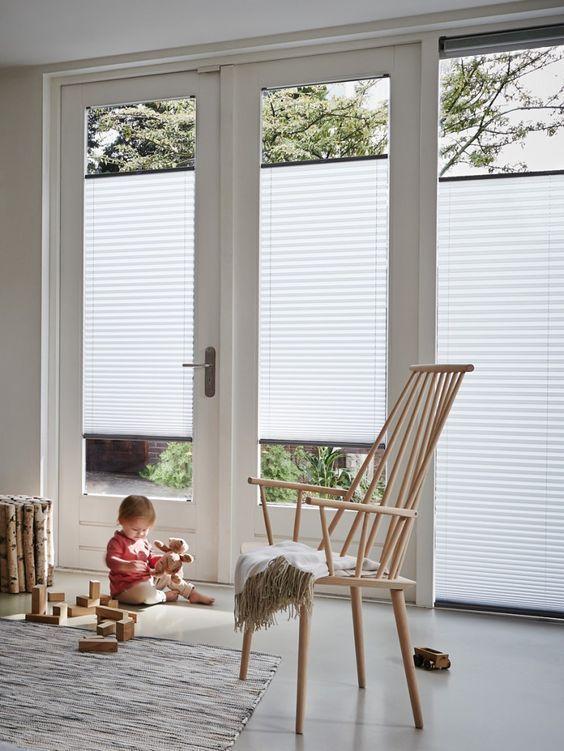 plissegordijnen zijn ideaal als raamdecoratie, het filtert het licht ...