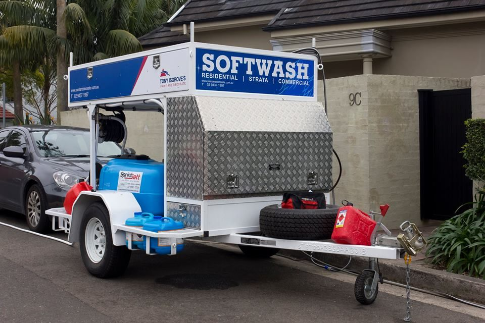 Custom Built Sprintjett Pressure Cleaning Trailer With Softwash System The Trailer Is Fitted With A Honda 27 Pressure Washing Industrial Pumps Pressure Washer