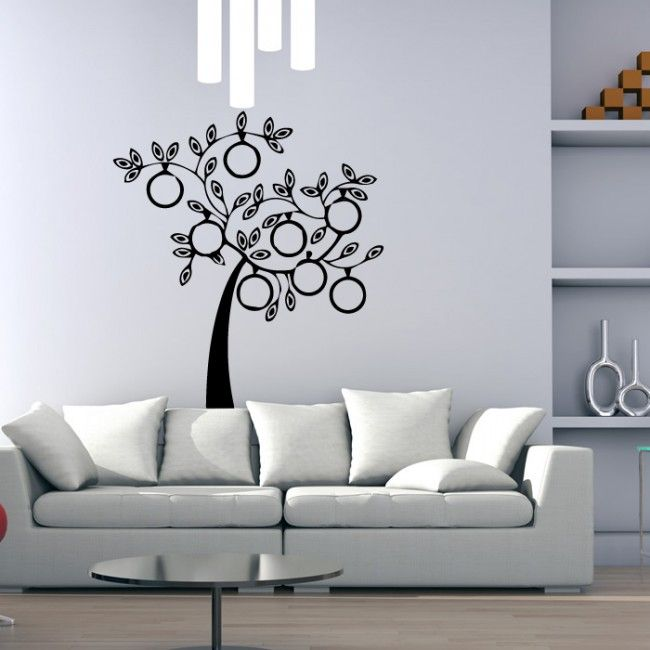 Modern family tree picture family tree wall stickers home decor art decals