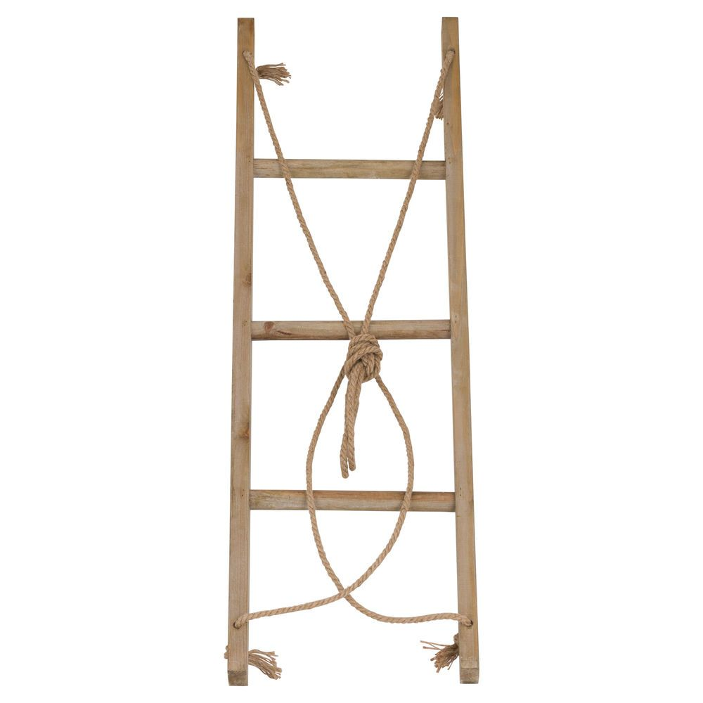 Details about hanging ladder display distressed washed grey wooden