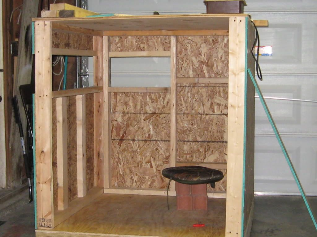 Deer stand ideas on pinterest deer stands deer blinds for Inside deer blind ideas