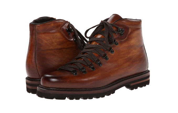 efd1cc47efe Magnanni Cognac Burnished Leather Hiking Boots | Men's Boots ...