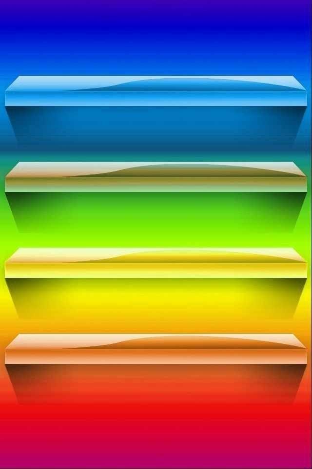 Rainbow shelf Smartphone wallpaper/background Ipad