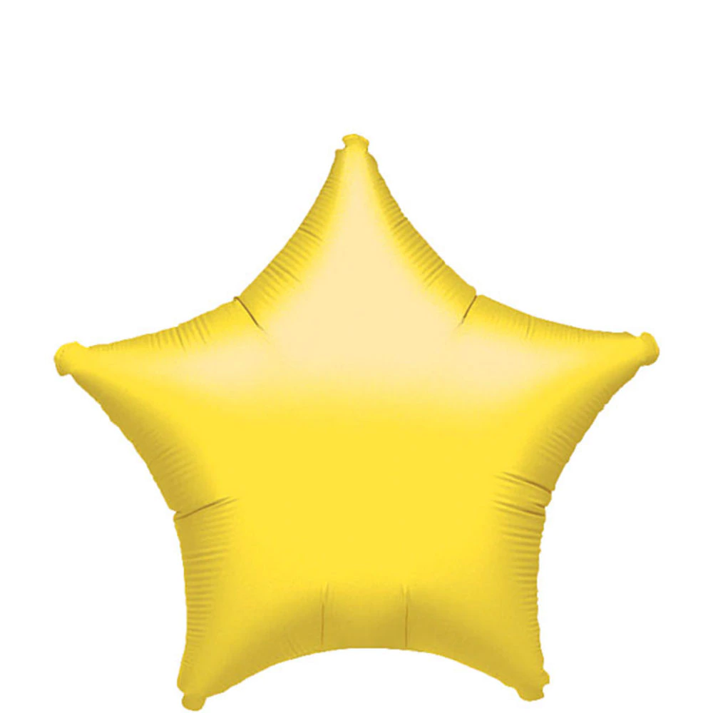 Yellow Star Balloon 19in in 2020 Kids birthday party