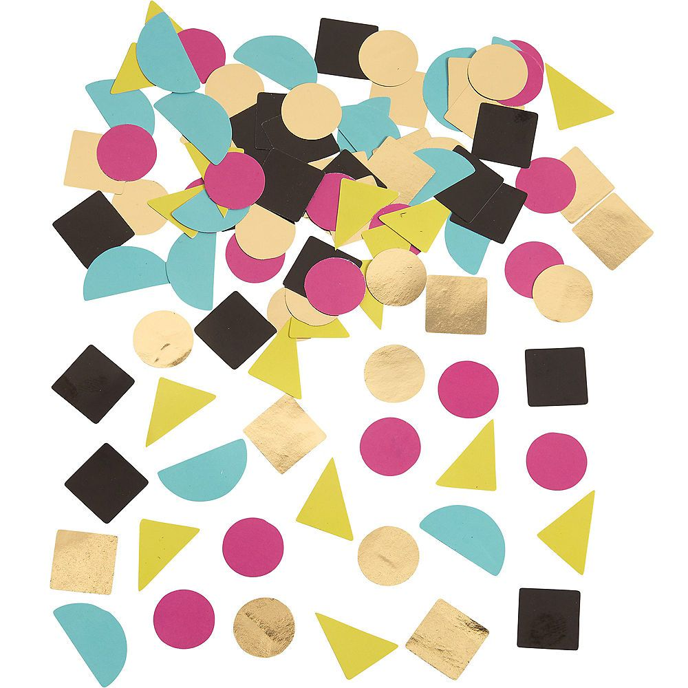 90s Party Time Geometric Table Scatter 0 5oz 90s Theme Party 90s Party Decorations 90s Party