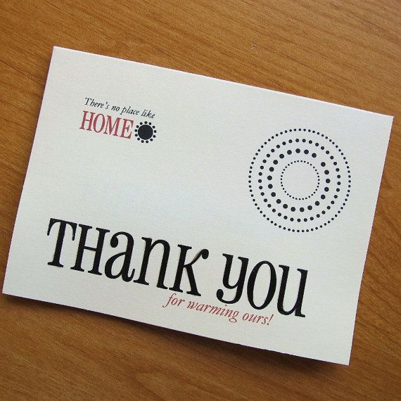 Thank You For Warming Our Home Housewarming Thank You House Warming Custom Cards Custom Thank You Cards