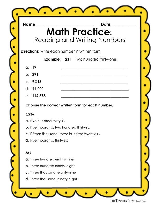 math worksheet : reading and writing numbers in expanded form standard form and  : Writing Numbers In Standard Form Worksheets