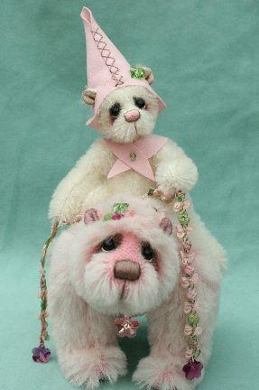 pipkins artist teddy bears collectable cute girl bears