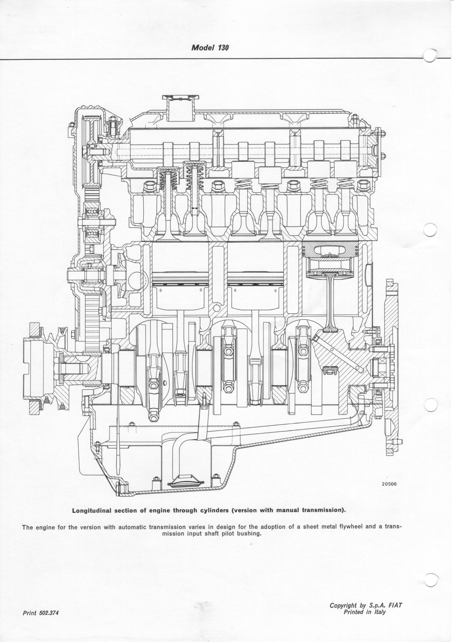 Fiat 130 engine manual