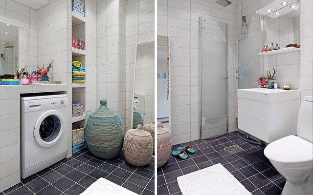 Cómo integrar la lavadora en el baño | Diseño baños ...