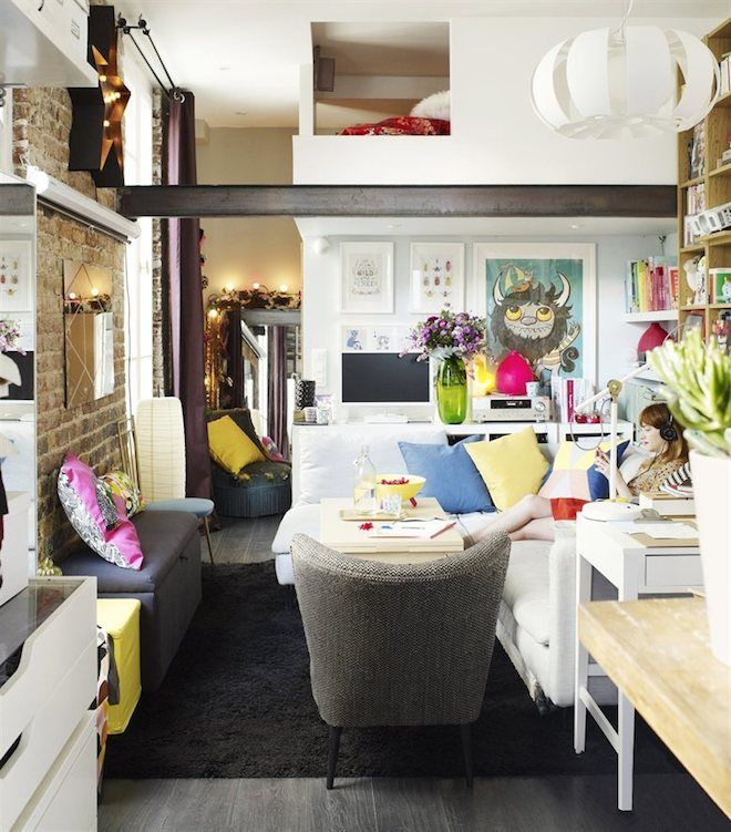 Family Living Room Design Ideas That Will Keep Everyone Happy: Cozy Parisian Pad Shows How To Live Tiny Without Paring