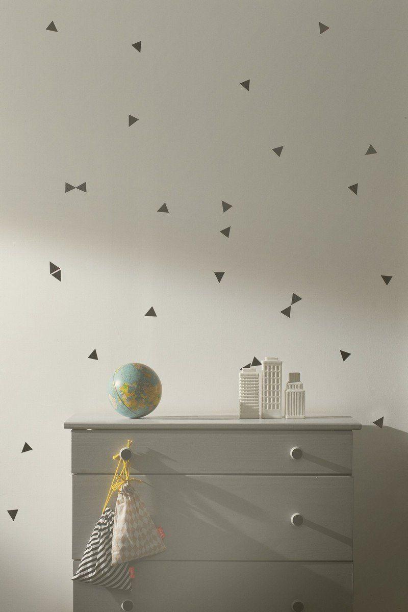 Mini Triangle Black Wallsticker design by Ferm Living | little ...
