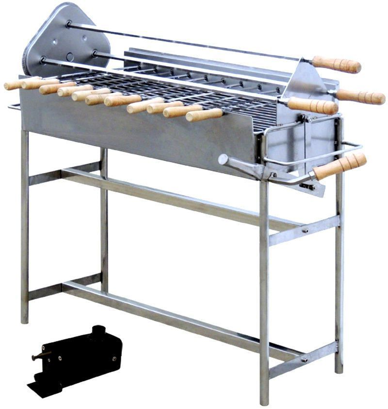 Electric Rotary Rotisserie Charcoal Spit Kabob Gyro Grill