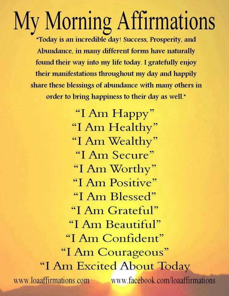 Morning Affirmations Affirmation Posters Affirmations