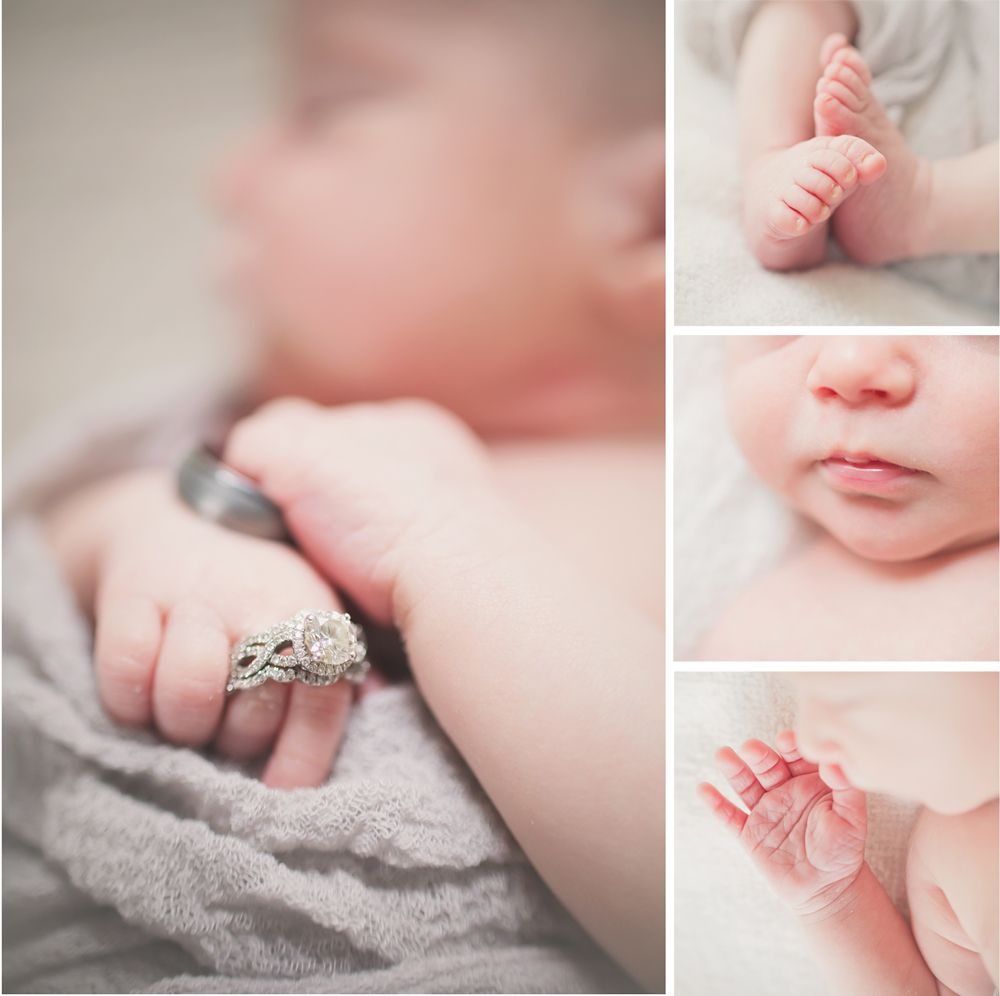 baby boy wedding rings newborn photos | Jenna Miller Photography ...
