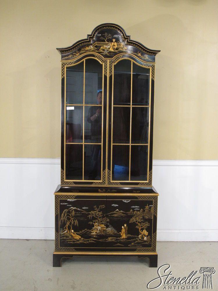 5317:  JOHN WIDDICOMB Chinoiserie Decorated Curio Cabinet