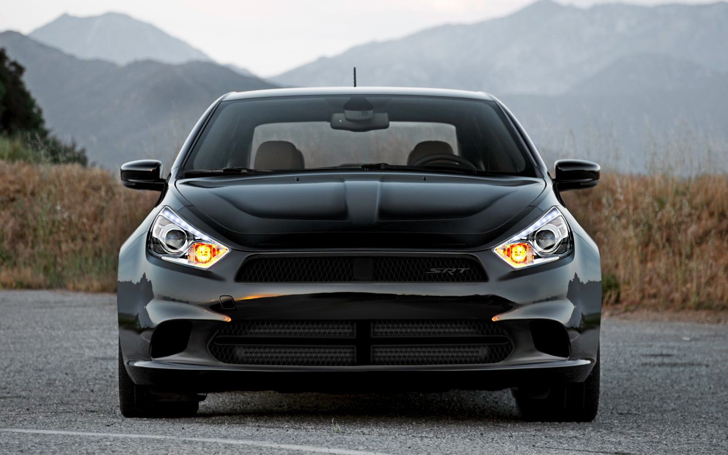 Dodge dart srt widebody new bumper design crosshair removal and headlight modification