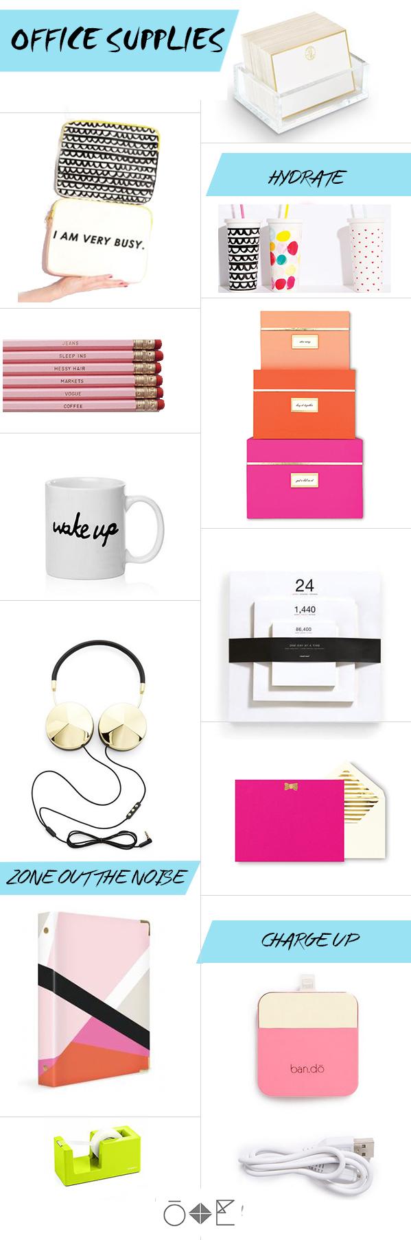 Odd + Even Design Cute U0026 Modern Office Supplies In Color