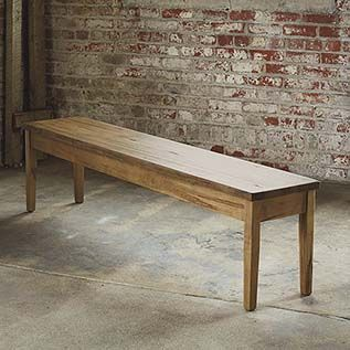 Miraculous Bench Made Maple 108 Rectangular Table My New Home Ibusinesslaw Wood Chair Design Ideas Ibusinesslaworg