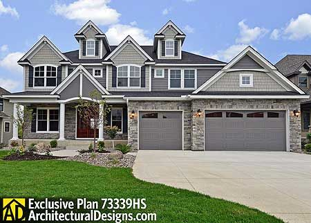 Plan 73339HS: Storybook House Plan With 4 to 6 Bedrooms | Half ...