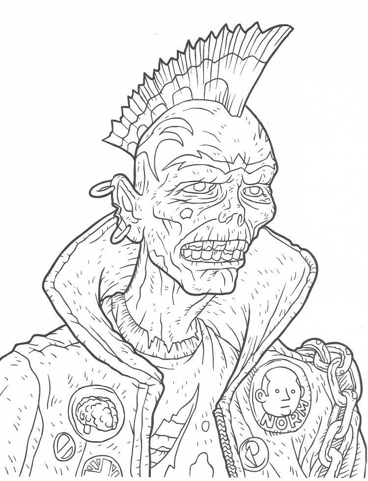 30++ Dark fantasy coloring pages info