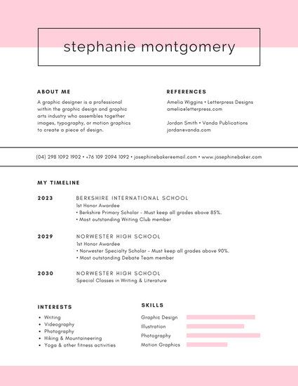 Image result for graphic design student resume minimalist Cover