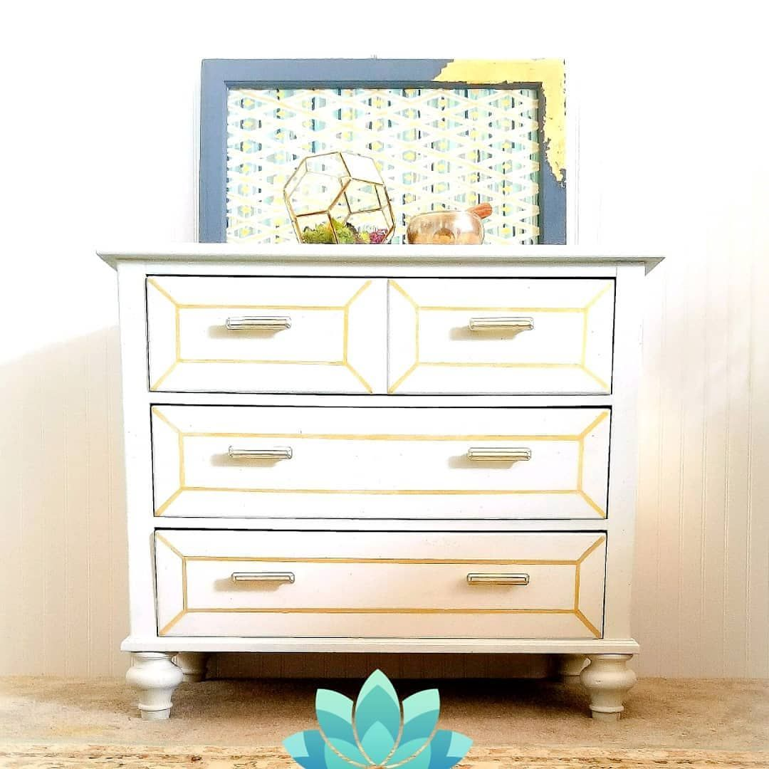 A Geometric Obsession Dresser For Those Who Love Clean Lines And Elegance.  Made By Pennsylvania
