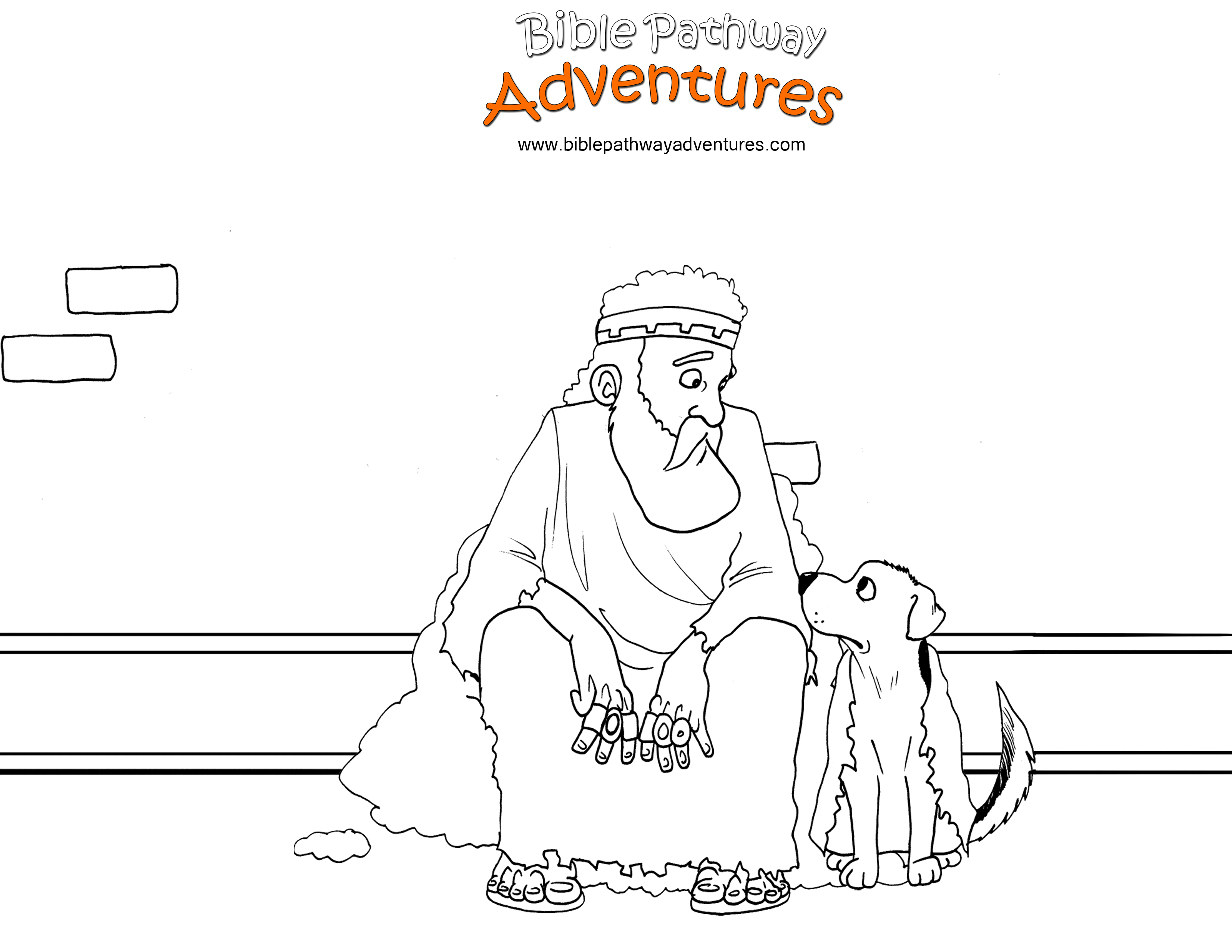 Free Bible coloring page - The King of Nineveh Repents