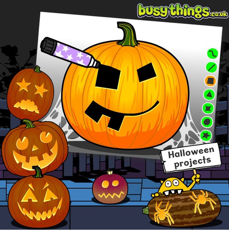 Children Can Design A Halloween Jack O Lanterns And Practise Their Ict Skills Too Halloween Projects Fun Educational Activities