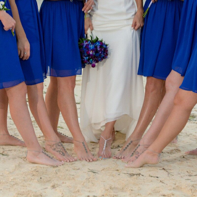 Bridesmaid Gifts Beach Wedding: Beach Wedding Shoes- Bridesmaid Gift- Barefoot Sandals