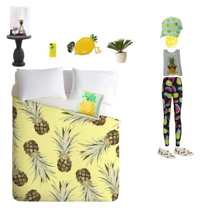 """""""With my bff on pineapple day"""" by clairezoo ❤ liked on Polyvore featuring Kate Spade, Flossy, Geneva, Tommy Bahama, Architectural Pottery and Keds"""