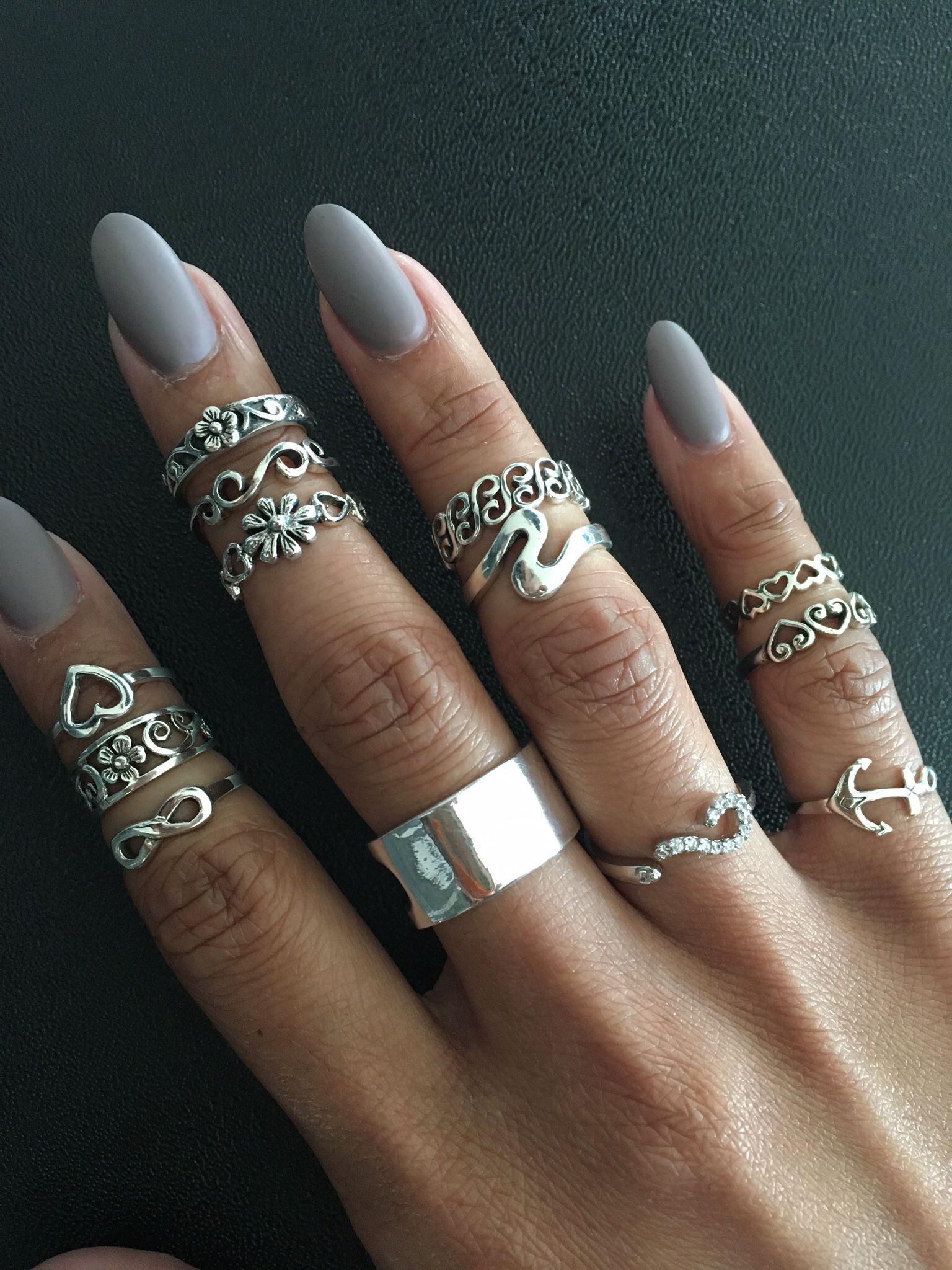 fd6b148de0b08 925 sterling silver Toe rings, Midi rings, Pinky rings, Knuckle ...