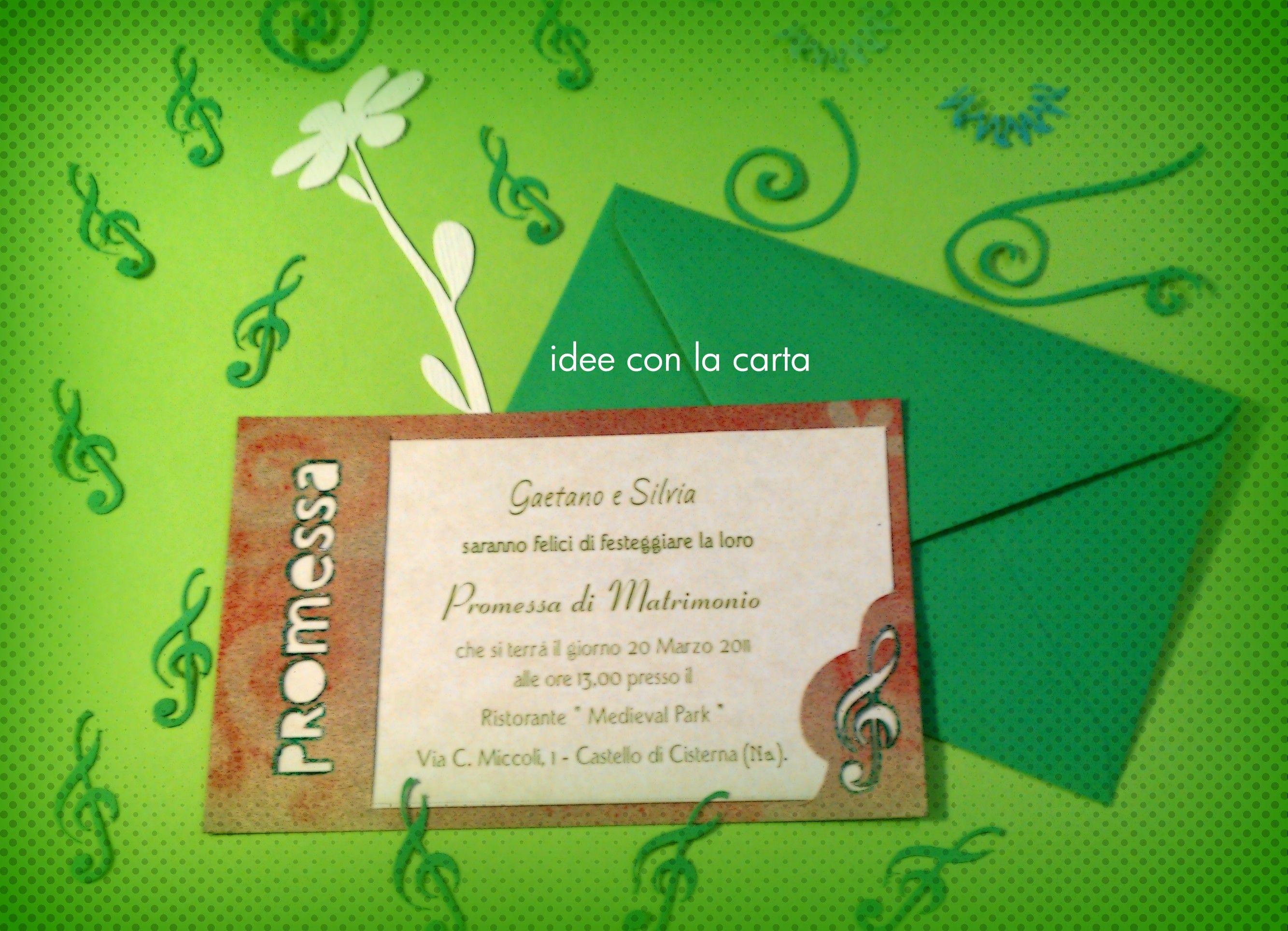 Auguri Promessa Di Matrimonio : Invito per la promessa di matrimonio inviti biglietti