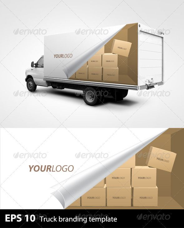 template for truck branding note the truck image is not included