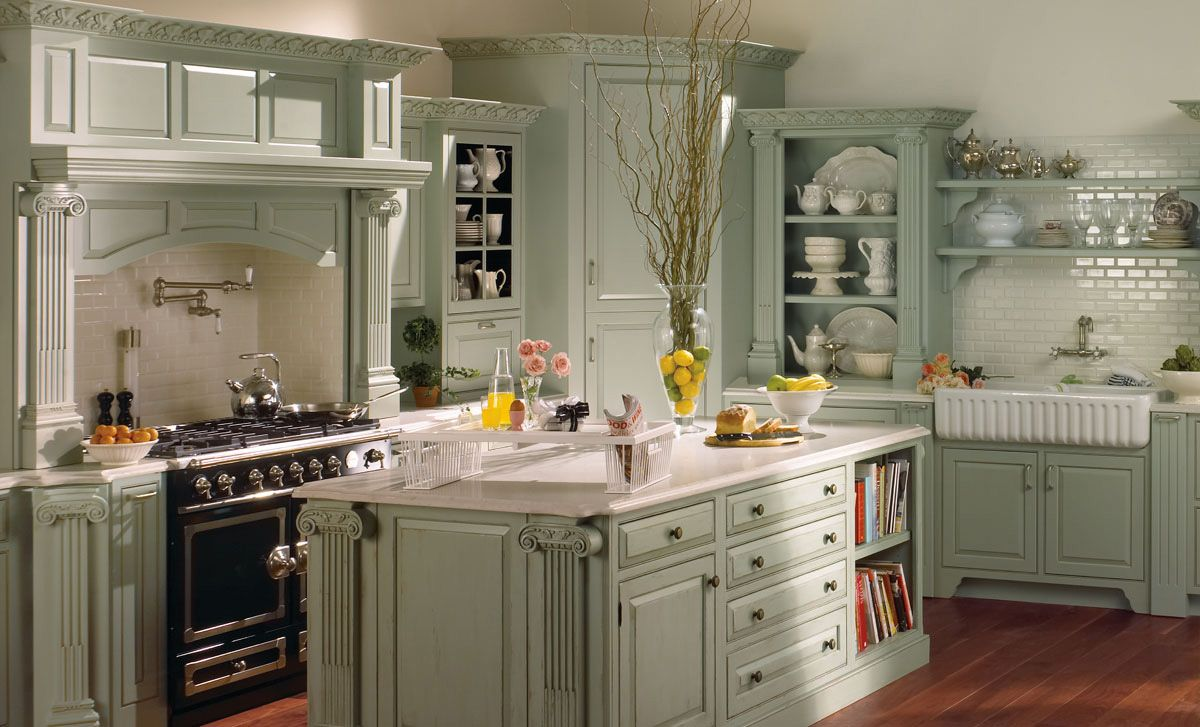 Interior design » European Country Kitchen Cabinets And Amusing ...