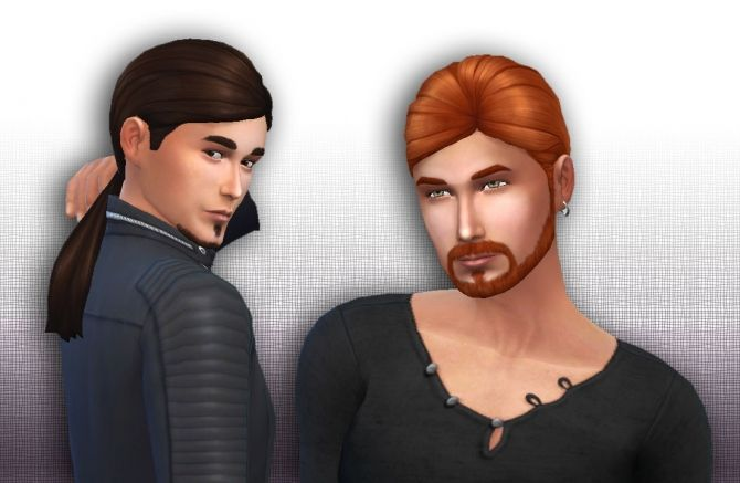 Ponytail Low Conversion for Men at My Stuff via Sims 4 Updates