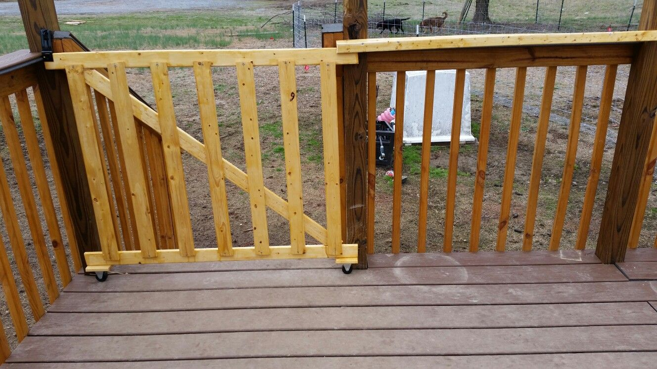 Sliding Rolling Gate Deck Gate Outdoor Deck Decorating Porch