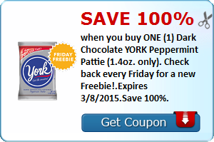 YORK Peppermint Pattie (Your weekly SavingStar FREEBIE)