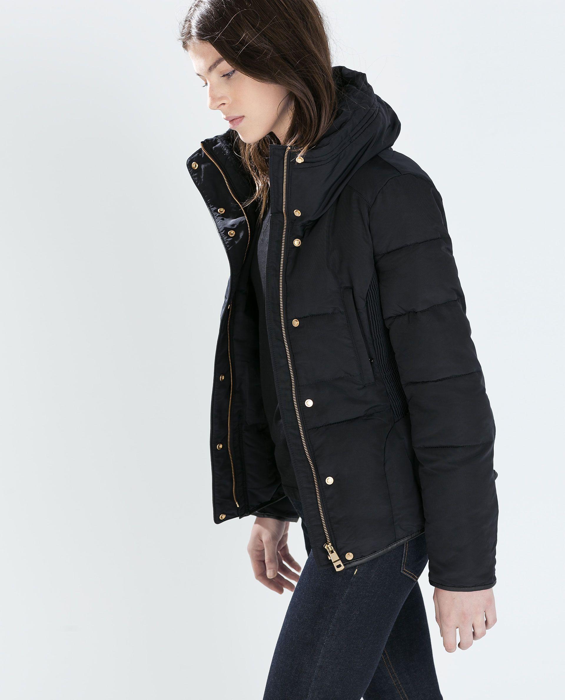 0a2f4c0b7 ANORAK COURT CINTRÉ À LA TAILLE de Zara 2014 | Mode - Manteaux ...