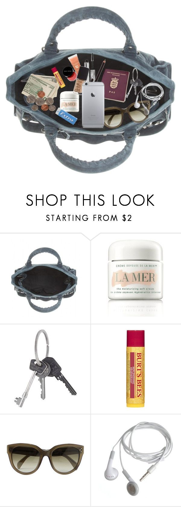 """""""IN MY PURSE"""" by nanna-holm ❤ liked on Polyvore featuring Balenciaga, La Mer, Givenchy, Burt's Bees, CÉLINE and Dansk"""